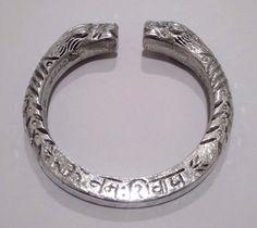 Om Namah Shivay Light Alloy Silver Oxidized Bracelet Wristband Cuff Kada Kadaa