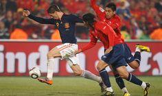 Fernando Torres frente a Chile en el Mundial de Sudáfrica 2010