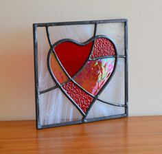Beautiful mosaic glass heart - each one unique. £45 from Radiance Stained Glass.
