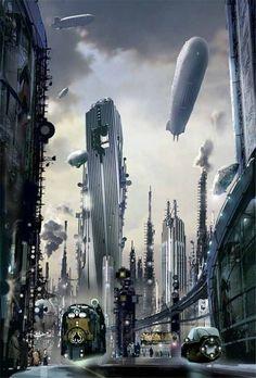 Engine City (Book cover) Stephan Martiniere; Copyright©Stephan Martiniere