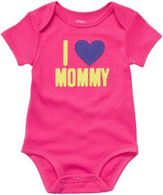 NWT Newborn Carters Bodysuit I Love Mommy Baby Girl Pink