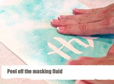 DIY Watercolor Cards with masking fluid | Watch the Video for step by step instructions
