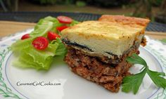 Gourmet Girl Cooks: Moussaka (Topped w/ Grain-Free Bechamel Sauce) - Low Carb