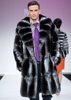 lush chinchilla...the softest fur and then some Men's Fashion Looks On @anandco #furfashion #furonline