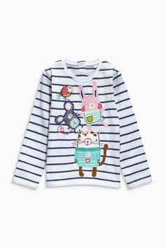 Buy Ecru Stripe Character T-Shirt (3mths-6yrs) from the Next UK online shop
