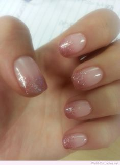 Lovely gel ombre nails