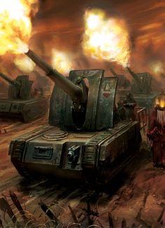 Bassilisk - Imperial Guard - Warhammer 40k - science fiction - Dark heresy tank