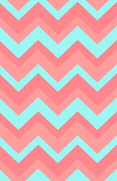 Light Pink & Blue Chevron iPhone Wallpaper