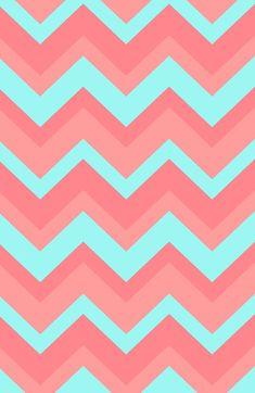 Light Pink & Blue Chevron iPhone Wallpaper