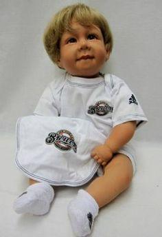 Brewers Newborn White Bodysuit, Bib and Booties Boxed Set