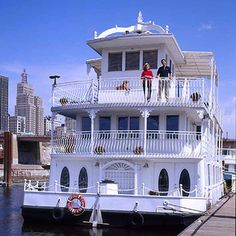 """Houseboat owner Mary Forsythe resolved to sell all her wealth for the sake of wandering the ocean.  """"The next thing you know, we have a boat ... and almost everyone thought we were crazy,"""" says Forsythe"""