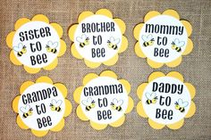 Bee Theme Gender Reveal Baby Shower Party by BurlapPaperSack