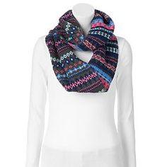 SO® Fairisle Knit Infinity Scarf