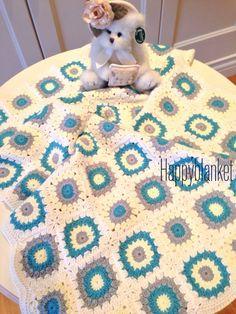 Handmade organic crochet design baby blanket- el yapimi organik tig isi bebek battaniyesi