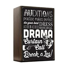Inspired Home All About Drama - Theater Box Sign Size 4x5.5