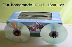 our homemade {kleenex} box car
