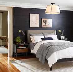 Through the use of placement and function this room is able to display a form of symmetry which suits quite well for the purpose of a harmoniously visual bedroom.