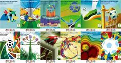 Saw? FIFA unveiled the posters of the 12 host cities of the 2014 FIFA World Cup.