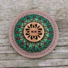 Simira - Brož mandalka - crochetka