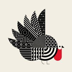 Psycho turkey a minimalist illustration project exploring the animal kingdom fine art prints for sale messymod com programmierung und kontaktgefhl ist webmaster Interaction Design, Ideal Logo, Minimal Art, Tattoo Sticker, Art Minimaliste, Graphisches Design, Line Illustration, Animal Illustrations, Character Illustration