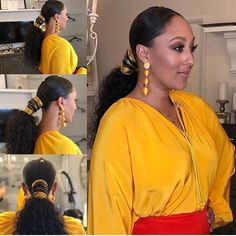 Good Products For Natural Black Hair Ponytail Styles, Curly Hair Styles, Natural Hair Styles, Low Ponytails, Updo Styles, Black Girls Hairstyles, Ponytail Hairstyles, Updos, Female Hairstyles