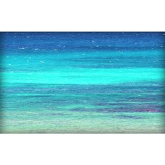 Beach Cottage Art - Turquoise Sea Photography - Beach Art Print - Blue... ($30) ❤ liked on Polyvore