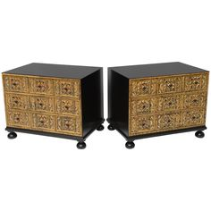 Pair of Night Stands by William A. Berkey Furniture for Widdicomb | From a unique collection of antique and modern commodes and chests of drawers at https://www.1stdibs.com/furniture/storage-case-pieces/commodes-chests-of-drawers/