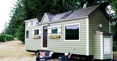 Portland-based tiny homes building company Tiny Heirloom specializes in extremely elegant and sophisticated tiny houses on wheels. This is their Vintage creation and it's as good as it sounds.
