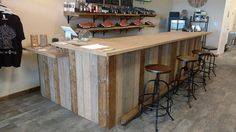 Shipping cost is for Florida Purchases Only. If you live outside of Florida, please ask for a quote. This beautiful bar is designed last for years. The design fits well with contemporary, rustic, pallet or industrial themes. Its is not made of actual barn wood or pallets. But we stain the wood to look like it. Includes polyurethane protection. Comes in various sizes, up to 12 feet total for this price. The perfect addition for good times with family and friends, this bar will be there to…