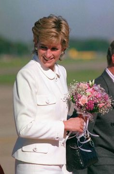 Princess Diana arrives in Buenos Aires Airport for her historic visit to Argentina, November 23, 1995.