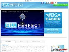 FillPerfect automatic Form Filler- The job application form filler designed for internet explorer.