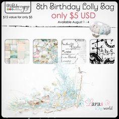 Lara's Digi World - Lolly Bag #larasdigiworld #pickleberrypop #digitalscrapbooking