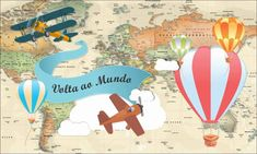 Festa Toy Store, Travel Party, Thing 1, Hot Air Balloon, Airplane, Backdrops, Bullet Journal, Scrapbook, Toys