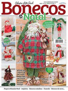 Artesanato - Bonecas : COL ARTE FACIL BONECOS DE NATAL 001 - Editora Minuano