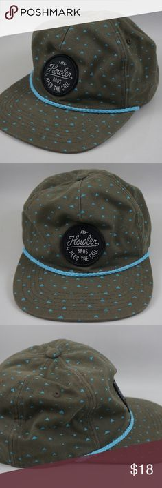Howler Brothers Cheops Print Snapback Green Black Item is in good condition  with no damage 76aaefa2bce1