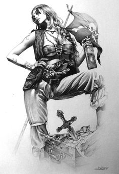 "pirate woman by arantzasestayo.deviantart.com on @deviantART   ""I Should have stayed in art class"""