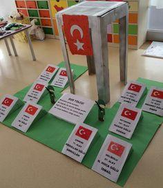 Our Martyrs and Çanakkale Religion, Preschool Education, Ramadan Decorations, Islamic Wall Art, Islamic Gifts, Teachers' Day, Art Activities, 18th, Ss