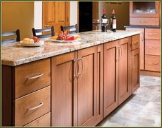 In the kitchen: Kraftmaid, Sedona Maple, Praline, La… | Kraftmaid Shaker Maple Cabinets With Soapstone Countertops on backsplashes with maple cabinets, tile with maple cabinets, uba tuba granite with maple cabinets, corian with maple cabinets, bathrooms with maple cabinets, soapstone countertops with oak floors, soapstone countertops with slate floors, granite colors with maple cabinets, silestone with maple cabinets,