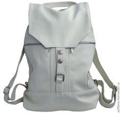 """Рюкзак """"Городская жизнь"""" Цвет: Cлоновая кость - кожаный рюкзак,городской рюкзак"""