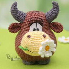Мастер-класс по вязанию бычка крючком #амигуруми #схемыамигуруми #вязаныеигрушки #вязаныйбык #быккрючком #amigurumi #amigurumipattern #amigurumibull #crochetbull