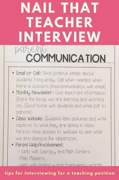 Nail That Teacher Interview - Learn tips and tricks to creating the perfect teacher interview portfolio. A great template for first year teachers for any teacher interviewing.