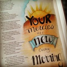 I love these bible journaling pages, but I could never cover a whole page where the text is unreadable. Then the bible is unreadable.