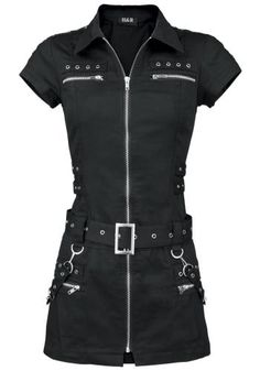 Shop H&R London Black Zip Dress Women Short Dress Black. Gothic Outfits, Edgy Outfits, Fashion Outfits, Ankara Fashion, Punk Fashion, Gothic Fashion, H&r London, Made Clothing, Character Outfits