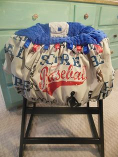 Baseball Shopping Cart Cover by TWINSANDQUINN on Etsy, $55.00
