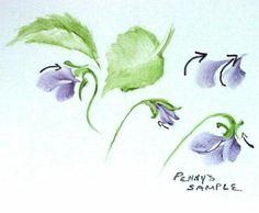 Penny Nangle's Violets | ARTchat - Porcelain Art Plus (formerly Chatty Teachers & Artists)