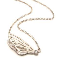 VICTORIA WALKER-UK -silver fly 3D pendant