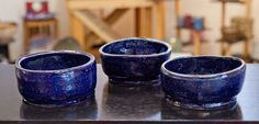 blue oatmeal bowls