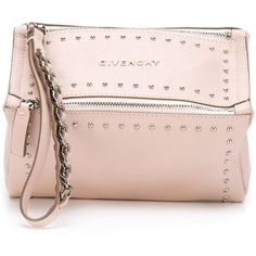 Givenchy 'Pandora' clutch (€540) ❤ liked on Polyvore featuring bags, handbags, clutches, purses, givenchy, pink clutches, rose purse, man bag, pink hand bags and givenchy purse