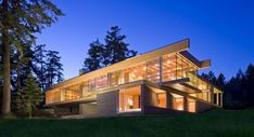 Geometrical Figures of the Gulf Islands Residence in Canada