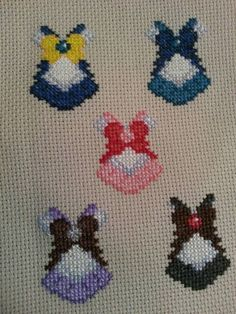 Sailor Moon Outer Senshi Sailor Suits Cross Stitch by Stitchynova